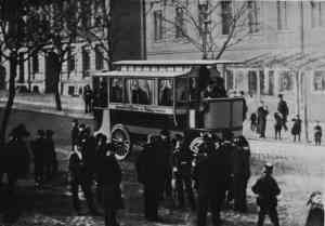 The first trolleybus in Eberswalde