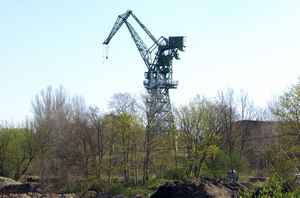 Eber Crane with observation deck in the Family Garden