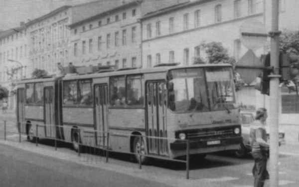 Articulated trolleybus no. 04(V) of the Hungarian type Ikarus 280.93 (scrapped)