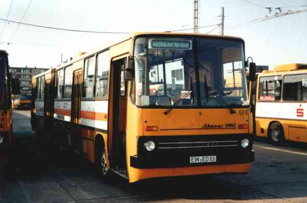 Articulated trolleybus no. 06(III) of Hungarian type Ikarus 280.93 (out of service)