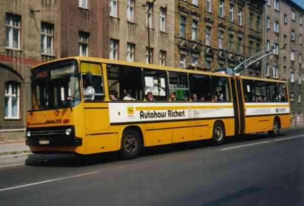 Articulated trolleybus no. 17(II) of the Hungarian type Ikarus 280.93 (out of service)