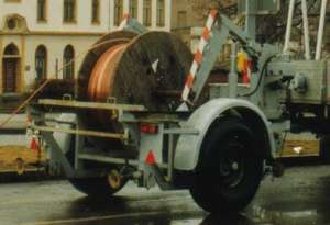 Trailer to the transport of cable drums of the GDR type HL 31.91