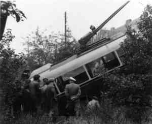 Traffic accident with the trolleybus no. 4(II) in Nordend