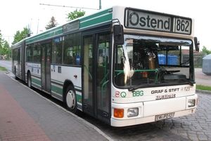 Articulated trolleybus of the Austrian type ÖAF Gäf & Stift NGE 152 M17/M18