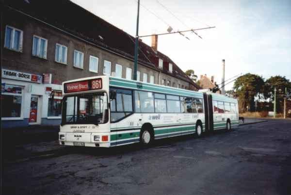 Articulated trolleybus of the Austrian type ÖAF Gräf & Stift NGE 152 M17