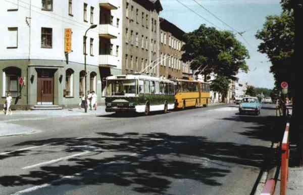 Trolleybus no. 03(IV) of the Czech type SKODA 14 Tr03 (out of service)