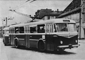 Trolleybus of the Czech type ŠKODA 8 Tr