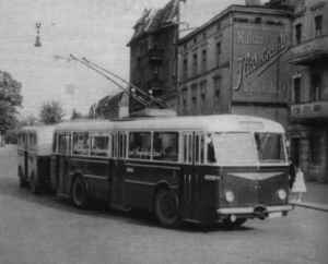 Breakdown of the trolleybus traffic in 1959