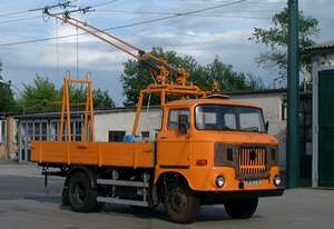 Deicer of the GDR type IFA W 50 L for the overhead contact line (self-construction)